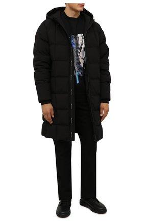 Мужские кожаные кеды mevys BALLY черного цвета, арт. MEVYS/00 | Фото 2 (Материал внутренний: Натуральная кожа, Текстиль; Подошва: Массивная)