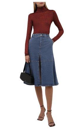 Женская водолазка STELLA MCCARTNEY бордового цвета, арт. 604059/S2286 | Фото 2 (Длина (для топов): Стандартные; Материал внешний: Вискоза; Рукава: Длинные; Женское Кросс-КТ: Водолазка-одежда; Стили: Кэжуэл)