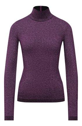Женская водолазка STELLA MCCARTNEY фиолетового цвета, арт. 604059/S2286 | Фото 1 (Материал внешний: Вискоза; Женское Кросс-КТ: Водолазка-одежда; Стили: Кэжуэл; Рукава: Длинные; Длина (для топов): Стандартные)