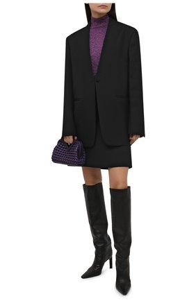 Женская водолазка STELLA MCCARTNEY фиолетового цвета, арт. 604059/S2286 | Фото 2 (Материал внешний: Вискоза; Женское Кросс-КТ: Водолазка-одежда; Стили: Кэжуэл; Рукава: Длинные; Длина (для топов): Стандартные)