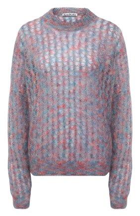 Женский свитер ACNE STUDIOS разноцветного цвета, арт. A60256 | Фото 1 (Длина (для топов): Стандартные; Рукава: Длинные; Материал внешний: Шерсть; Женское Кросс-КТ: Свитер-одежда; Стили: Кэжуэл)