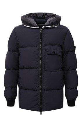 Мужская пуховая куртка STONE ISLAND темно-синего цвета, арт. 751543432 | Фото 1 (Материал подклада: Синтетический материал; Длина (верхняя одежда): Короткие; Рукава: Длинные; Материал внешний: Синтетический материал; Материал утеплителя: Пух и перо; Кросс-КТ: Куртка; Мужское Кросс-КТ: пуховик-короткий; Стили: Кэжуэл)
