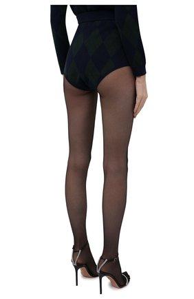 Женские шорты ALESSANDRA RICH темно-зеленого цвета, арт. FAB2592-K3371   Фото 4 (Стили: Ретро; Женское Кросс-КТ: Шорты-одежда; Длина Ж (юбки, платья, шорты): Мини; Материал внешний: Вискоза)