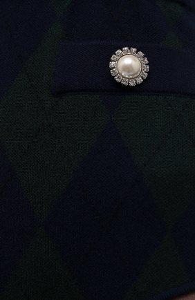 Женские шорты ALESSANDRA RICH темно-зеленого цвета, арт. FAB2592-K3371   Фото 5 (Стили: Ретро; Женское Кросс-КТ: Шорты-одежда; Длина Ж (юбки, платья, шорты): Мини; Материал внешний: Вискоза)