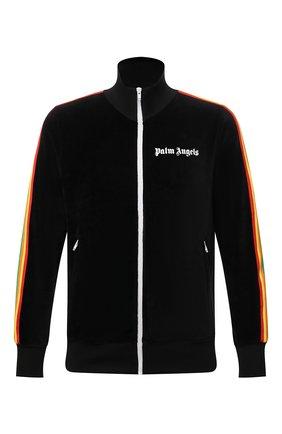 Мужской хлопковая толстовка PALM ANGELS черного цвета, арт. PMBD001F21FAB0081001 | Фото 1 (Длина (для топов): Стандартные; Материал внешний: Хлопок; Рукава: Длинные; Мужское Кросс-КТ: Толстовка-одежда; Стили: Спорт-шик)
