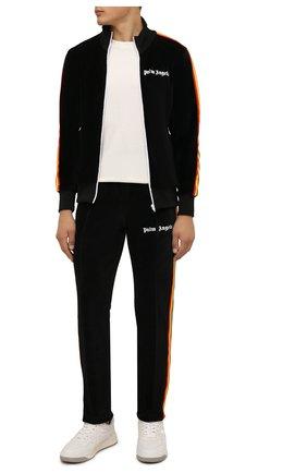 Мужской хлопковая толстовка PALM ANGELS черного цвета, арт. PMBD001F21FAB0081001 | Фото 2 (Длина (для топов): Стандартные; Материал внешний: Хлопок; Рукава: Длинные; Мужское Кросс-КТ: Толстовка-одежда; Стили: Спорт-шик)