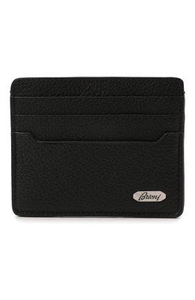 Мужской кожаный футляр для кредитных карт BRIONI черного цвета, арт. 0HUM0L/01719 | Фото 1