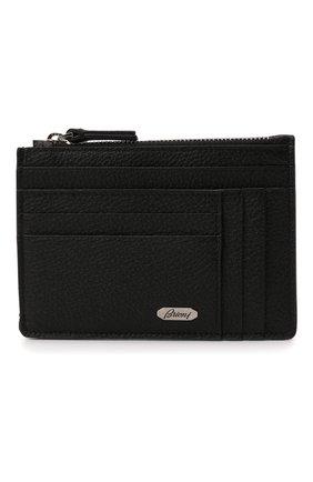 Мужской кожаный футляр для кредитных карт BRIONI черного цвета, арт. 0HUU0L/01719 | Фото 1