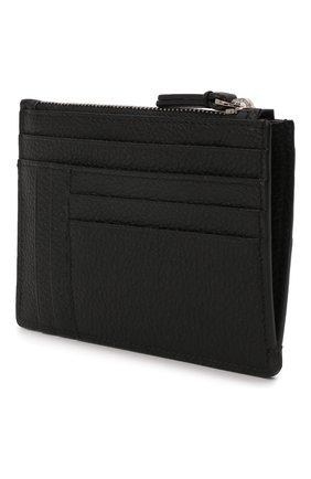 Мужской кожаный футляр для кредитных карт BRIONI черного цвета, арт. 0HUU0L/01719 | Фото 2