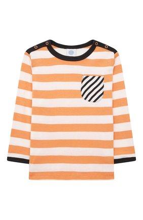 Детский хлопковая пижама SANETTA оранжевого цвета, арт. 221658 | Фото 2 (Рукава: Длинные; Материал внешний: Хлопок; Ростовка одежда: 9 мес | 74 см, 12 мес | 80 см, 18 мес | 86 см, 24 мес | 92 см, 36 мес | 98 см)