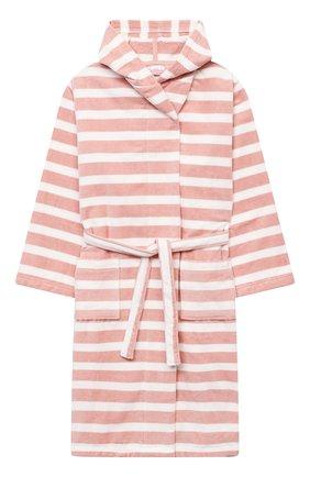Детский хлопковый халат SANETTA светло-розового цвета, арт. 232678   Фото 1 (Материал внешний: Хлопок; Рукава: Длинные; Ростовка одежда: 12 лет   152 см, 16 лет   164 см)