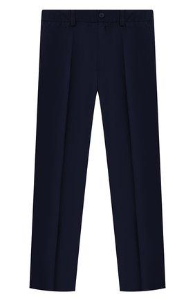 Детские брюки blue ZHANNA & ANNA синего цвета, арт. ZABL33062021 | Фото 1 (Материал внешний: Синтетический материал; Девочки Кросс-КТ: Брюки-одежда; Ростовка одежда: 7 лет | 122 см, 8 лет | 128 см, 9 лет | 134 см, 10 - 11 лет | 140 - 146см, 12 лет | 152 см, 13 - 15 лет | 158 см)