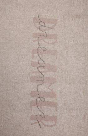 Шелковый плед BRUNELLO CUCINELLI бежевого цвета, арт. MPAG90D34   Фото 2