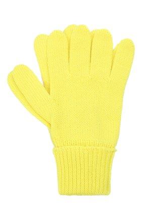 Детские шерстяные перчатки IL TRENINO желтого цвета, арт. 21 4055 | Фото 1 (Материал: Шерсть)