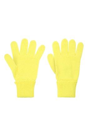 Детские шерстяные перчатки IL TRENINO желтого цвета, арт. 21 4055 | Фото 2 (Материал: Шерсть)