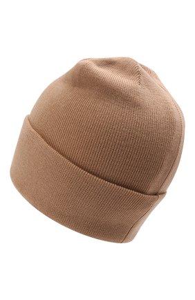 Детского шерстяная шапка IL TRENINO бежевого цвета, арт. 21 4059/2L | Фото 2 (Материал: Шерсть)