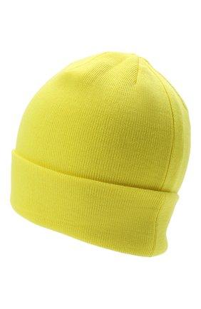 Детского шерстяная шапка IL TRENINO желтого цвета, арт. 21 4059/2L | Фото 2 (Материал: Шерсть)