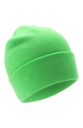 Детского шерстяная шапка IL TRENINO салатового цвета, арт. 21 4059/2L | Фото 1 (Материал: Шерсть)