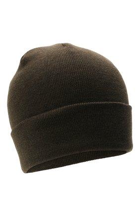 Детского шерстяная шапка IL TRENINO хаки цвета, арт. 21 4059/2L | Фото 1 (Материал: Шерсть)