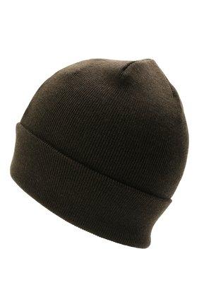 Детского шерстяная шапка IL TRENINO хаки цвета, арт. 21 4059/2L | Фото 2 (Материал: Шерсть)
