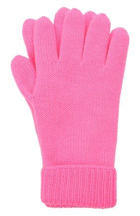 Детские шерстяные перчатки IL TRENINO розового цвета, арт. 21 4063   Фото 1 (Материал: Шерсть)