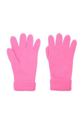 Детские шерстяные перчатки IL TRENINO розового цвета, арт. 21 4063   Фото 2 (Материал: Шерсть)