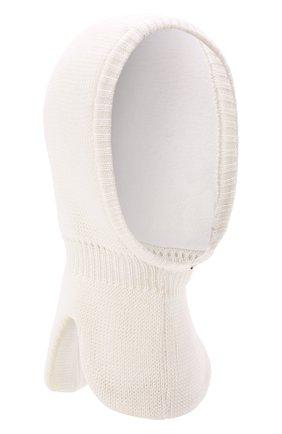 Детского шерстяная шапка-балаклава IL TRENINO белого цвета, арт. 21 4065/17 | Фото 1 (Материал: Шерсть)