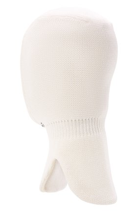 Детского шерстяная шапка-балаклава IL TRENINO белого цвета, арт. 21 4065/17 | Фото 2 (Материал: Шерсть)