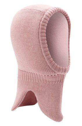 Детского шерстяная шапка-балаклава IL TRENINO розового цвета, арт. 21 4065/17 | Фото 1 (Материал: Шерсть)
