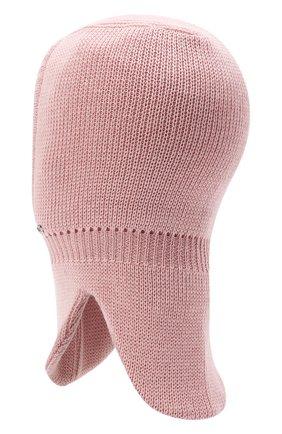Детского шерстяная шапка-балаклава IL TRENINO розового цвета, арт. 21 4065/17 | Фото 2 (Материал: Шерсть)