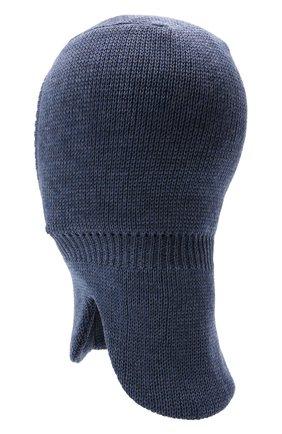 Детского шерстяная шапка-балаклава IL TRENINO синего цвета, арт. 21 4065/17 | Фото 2 (Материал: Шерсть)