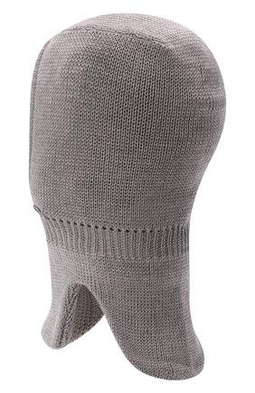 Детского шерстяная шапка-балаклава IL TRENINO серого цвета, арт. 21 4065/17 | Фото 2 (Материал: Шерсть)