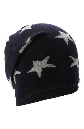 Детского шерстяная шапка IL TRENINO темно-синего цвета, арт. 21 5556 | Фото 1 (Материал: Шерсть)