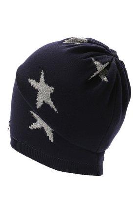 Детского шерстяная шапка IL TRENINO темно-синего цвета, арт. 21 5556 | Фото 2 (Материал: Шерсть)