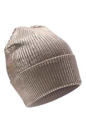 Детского шерстяная шапка IL TRENINO золотого цвета, арт. 21 5762 | Фото 1 (Материал: Шерсть)