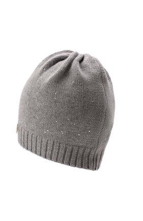 Детского шапка из шерсти и кашемира IL TRENINO светло-серого цвета, арт. 21 5891 | Фото 2 (Материал: Шерсть, Кашемир)