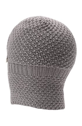 Детского шерстяная шапка-балаклава IL TRENINO серого цвета, арт. 19 5970/18 | Фото 2 (Материал: Шерсть)