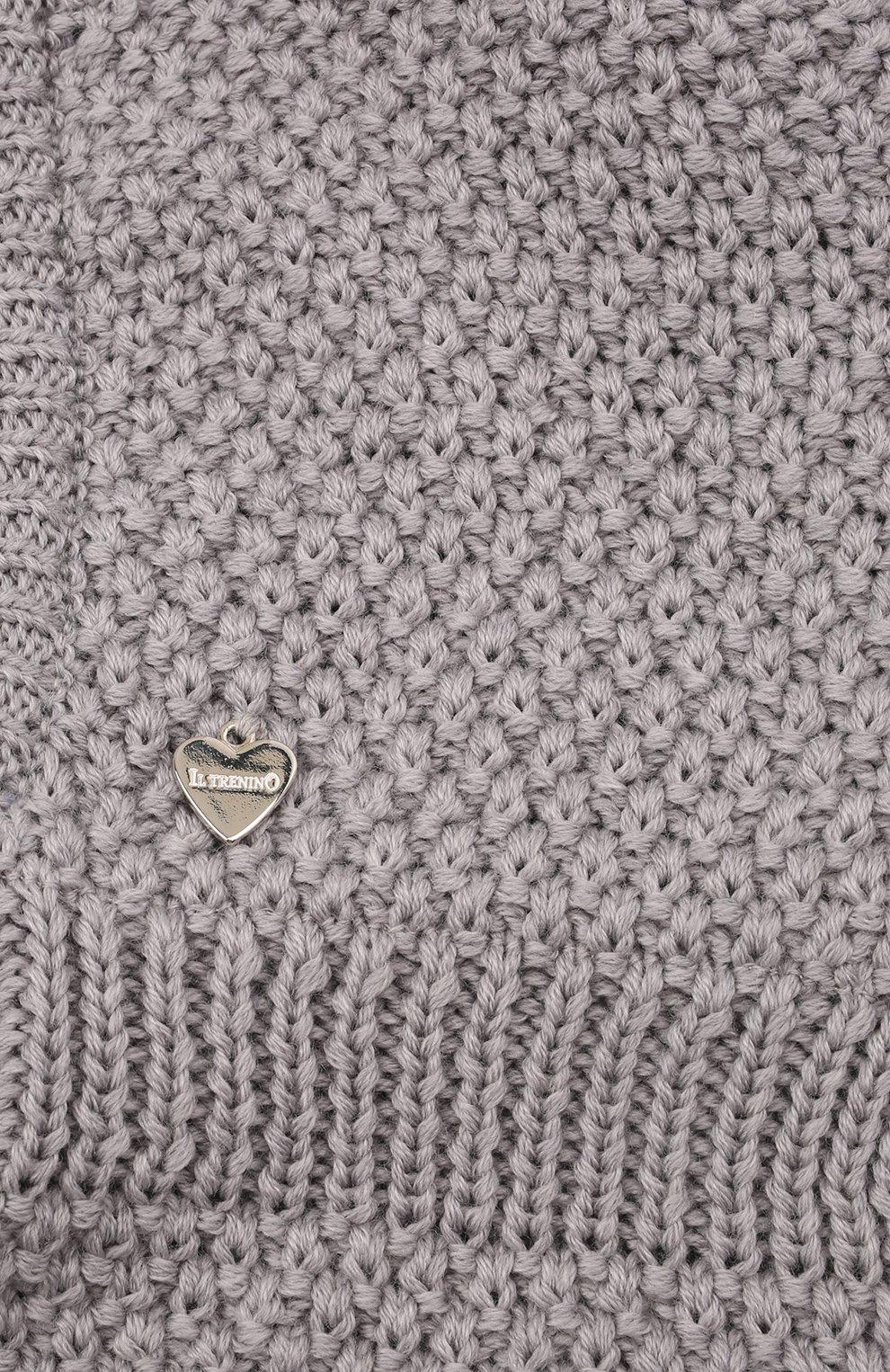 Детского шерстяная шапка-балаклава IL TRENINO серого цвета, арт. 19 5970/18 | Фото 3 (Материал: Шерсть)