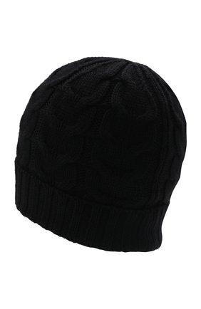Детского шерстяная шапка MONCLER черного цвета, арт. G2-954-3B715-20-04S02   Фото 2 (Материал: Шерсть)
