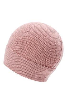 Детского шерстяная шапка MONCLER розового цвета, арт. G2-954-9Z731-00-A9632   Фото 2 (Материал: Синтетический материал, Текстиль, Шерсть)