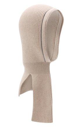 Детского кашемировая шапка-балаклава BRUNELLO CUCINELLI бежевого цвета, арт. B12M70399A | Фото 1 (Материал: Кашемир, Шерсть)