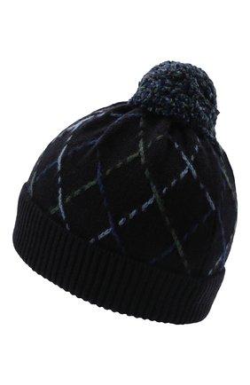 Детского кашемировая шапка LORO PIANA синего цвета, арт. FAL7508 | Фото 2 (Материал: Кашемир, Шерсть)