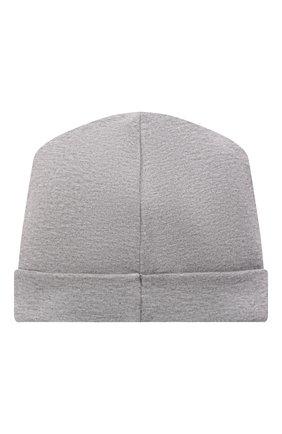 Детского хлопковая шапка MOSCHINO серого цвета, арт. MUX03W/LDA14 | Фото 2 (Материал: Хлопок, Текстиль)