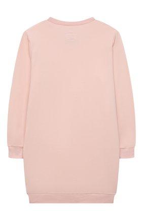 Детское хлопковое платье IL GUFO розового цвета, арт. A21VL479M0100/10A-12A   Фото 2 (Рукава: Длинные; Материал внешний: Хлопок; Случай: Повседневный; Ростовка одежда: 9 лет   134 см)