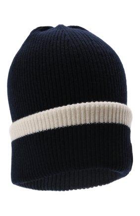 Детского шерстяная шапка EMPORIO ARMANI синего цвета, арт. 404643/1A454 | Фото 1 (Материал: Шерсть)