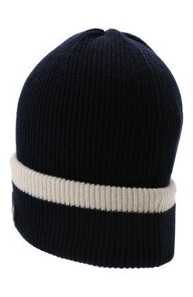 Детского шерстяная шапка EMPORIO ARMANI синего цвета, арт. 404643/1A454 | Фото 2 (Материал: Шерсть)