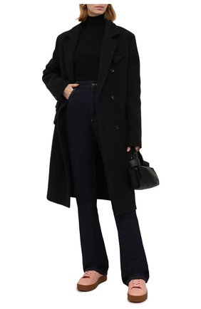Женские кожаные кеды the quilt BOTTEGA VENETA розового цвета, арт. 651417/V00T0 | Фото 2 (Материал внутренний: Текстиль, Натуральная кожа; Подошва: Платформа)