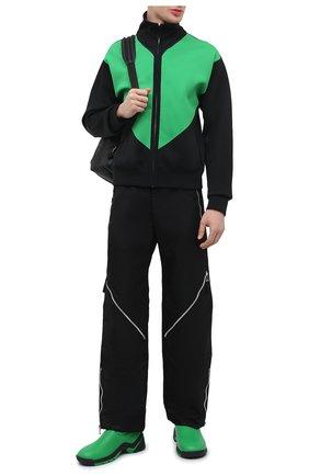 Мужские кожаные кроссовки flash BOTTEGA VENETA зеленого цвета, арт. 667069/VBSD0 | Фото 2 (Материал внутренний: Текстиль, Натуральная кожа; Стили: Гранж; Подошва: Массивная)