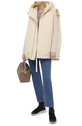 Женские текстильные кроссовки sonnie CHLOÉ темно-серого цвета, арт. CHC21A49033   Фото 2 (Материал внутренний: Натуральная кожа; Подошва: Платформа; Материал внешний: Текстиль; Кросс-КТ: хайтопы)