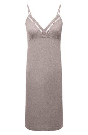 Женская сорочка SIMONEPERELE бежевого цвета, арт. 19S940   Фото 1 (Материал внешний: Лиоцелл, Хлопок; Длина Ж (юбки, платья, шорты): Мини)